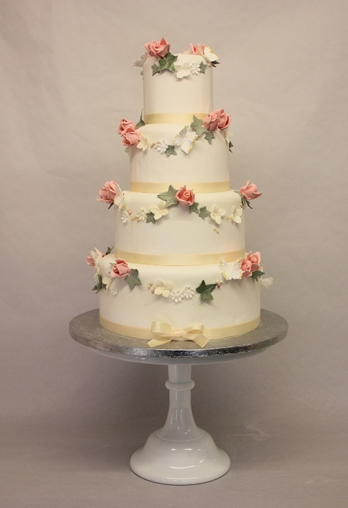 Garlands Wedding Cake