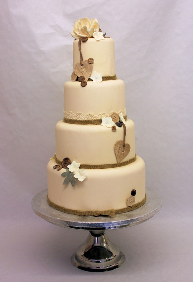 Rustic Wedding Cake, Rustic