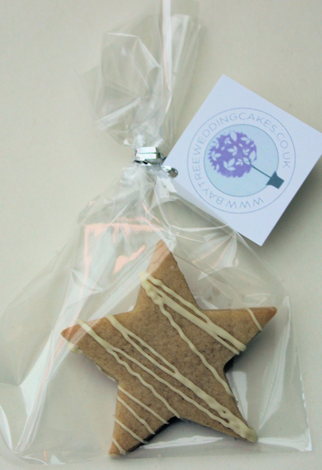 Star Cookies, Star Biscuits, wedding favours