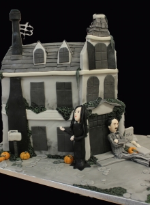 Adams Family Halloween Wedding Cake