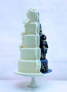 Batman Reveal (side) Wedding Cake