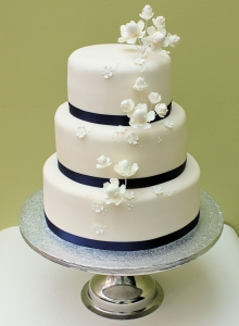 Ivory Blooms Wedding Cake