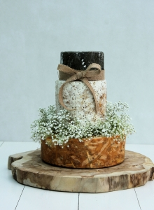 Cheeses with Gypsophila Garland Wedding Cake