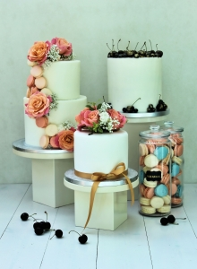 Trio of Desserts Wedding Cakes