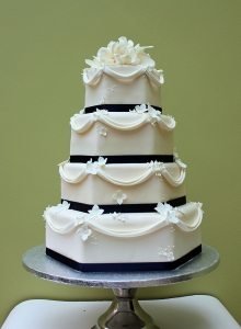 Drapes Wedding Cake