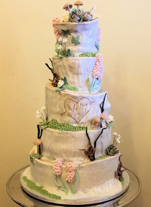 Enchanted Woodland wedding Cake