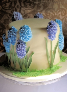 Blue Hyacinth Wedding Cake