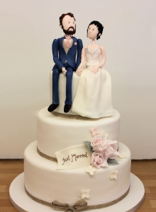 Character Rustic Wedding Cake
