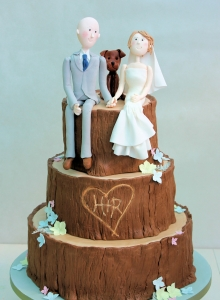 Character Tree Stump Wedding Cake