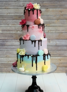 Macaroons and Chocolate Wedding Cake