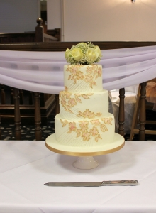 Painted Flower Wedding Cake