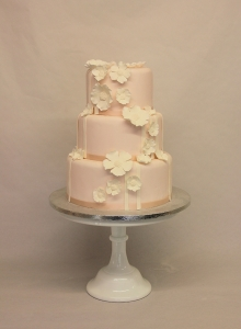 pink wedding cake, poppy