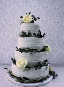 Olive Garlands Royal Iced Rustic Cake Wedding Cake