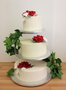 Buttercream with Separate Tiers Wedding Cake