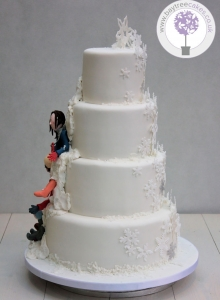 Winter Reveal Wedding Cake 2