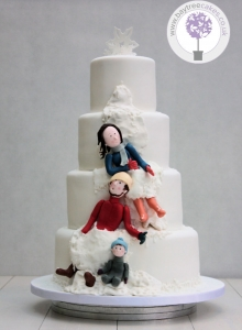 Winter Reveal Wedding Cake 3