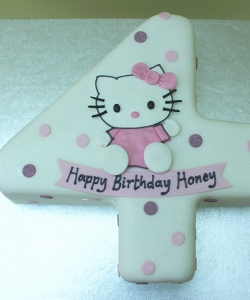 Number 4 Cake, Hello Kitty