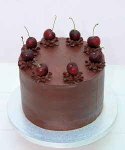 Chocolate Cherries Birthday Cake