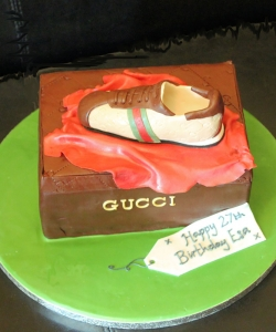 Gucci Trainers Birthday Cake