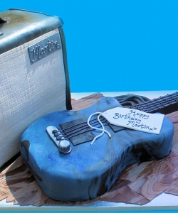 Guitar And Amp Cake