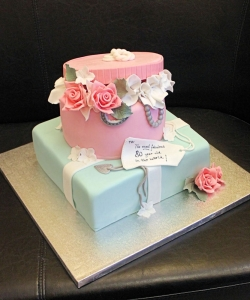 Hat Box & Parcel Birthday Cake