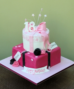 Parcel Box Birthday Cake, 18th Birthday Cake