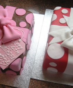 Spotty Parcels Birthday Cake