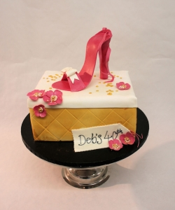 Red Shoe & Box Birthday Cake