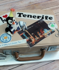 Holiday Suitcase Birthday Cake