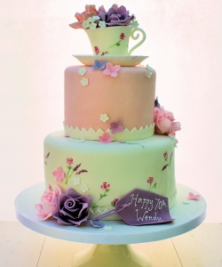 Vintage Teacup Birthday Cake