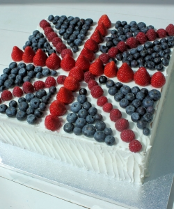 union jack birthday cake