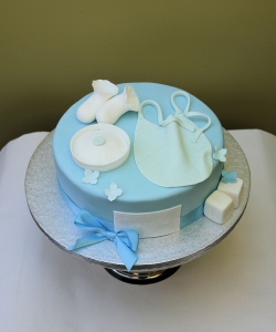 Bib and Shoes Christening Cake