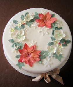 Christmas Cake With Garland