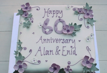 Lilac 60th Anniversary Cake