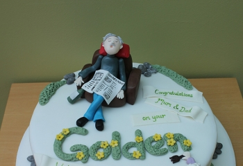 Character Golden Wedding Cake