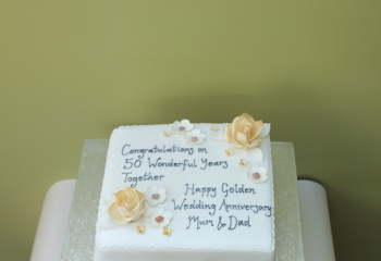 Traditional Golden Wedding Cake